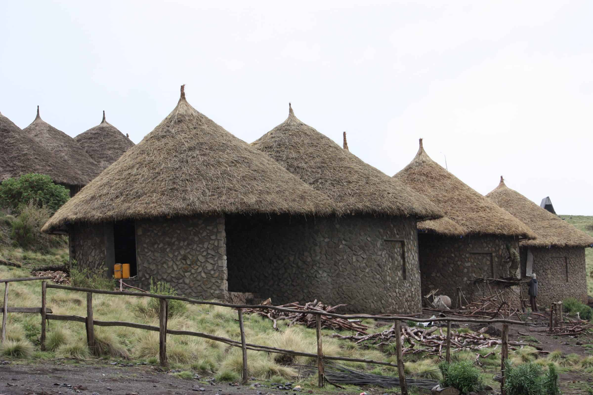 Ethiopia thatched huts