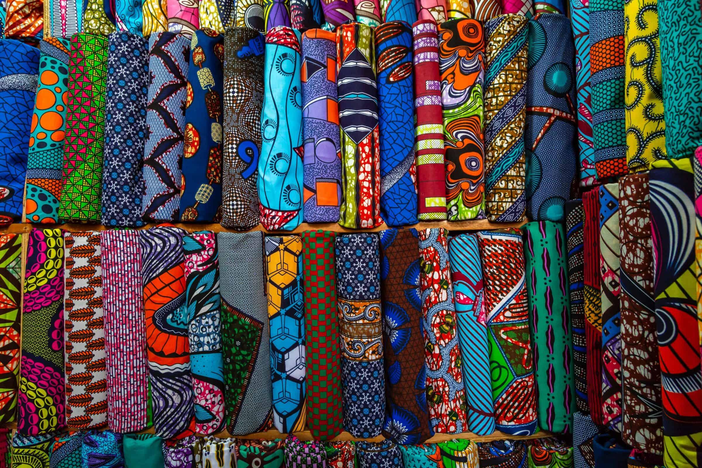 Mozambique colourful textiles