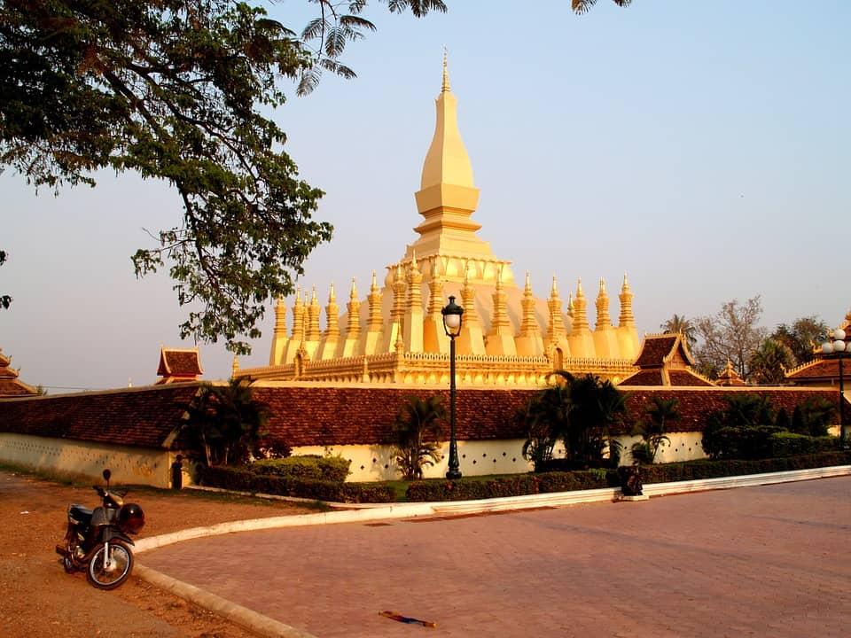 Laos golden pagoda