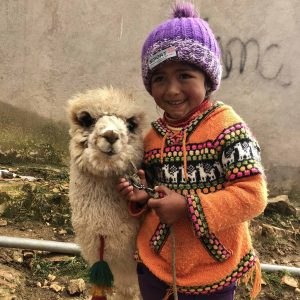 Local girl with Llama Bolivia