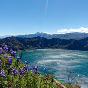 Crater lake Ecuador