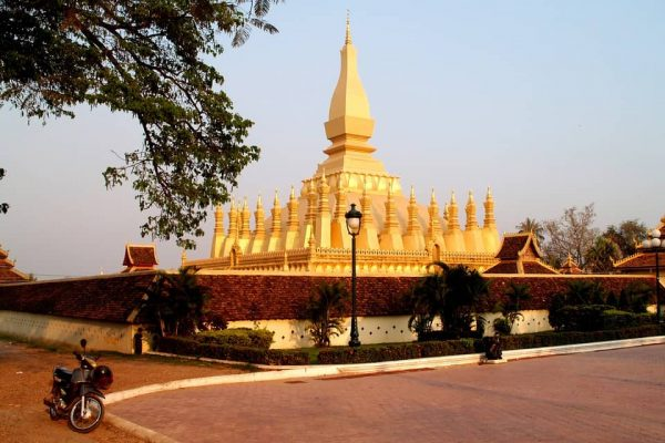Laos golden pagoda