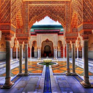 Inside Moroccan temple