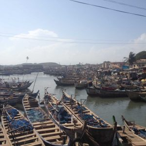 boats on the water in Ghana